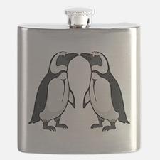 Penguin Kiss Flask