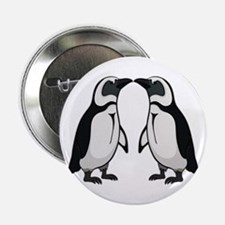 "Penguin Kiss 2.25"" Button"
