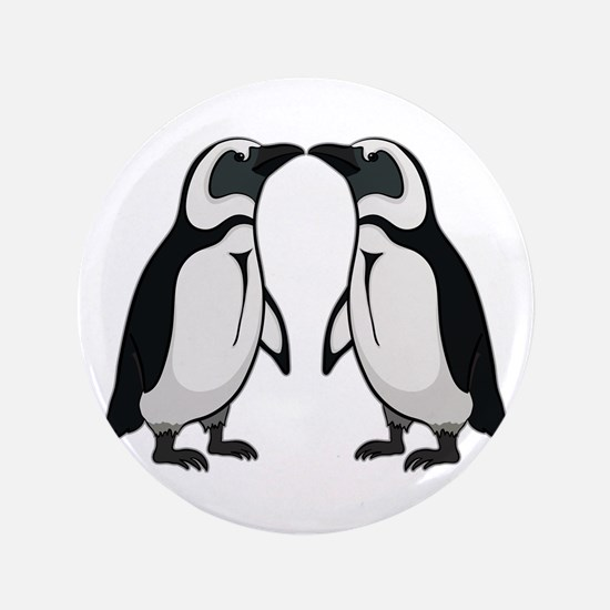 "Penguin Kiss 3.5"" Button"