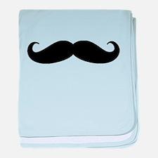 Movember Moustache baby blanket