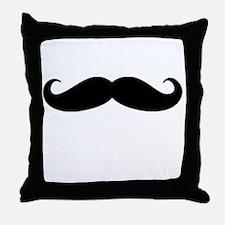Movember Moustache Throw Pillow