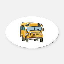 Bus Oval Car Magnet