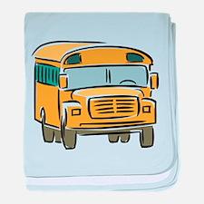 Bus baby blanket