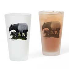 Malayan Tapir and Young Drinking Glass