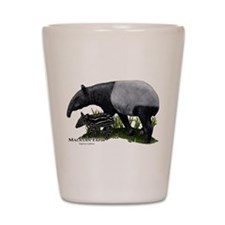 Malayan Tapir and Young Shot Glass