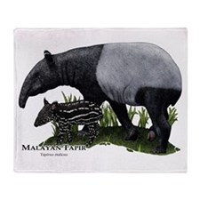 Malayan Tapir and Young Throw Blanket