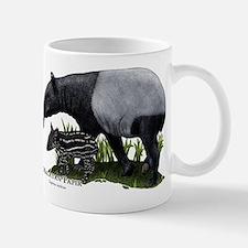 Malayan Tapir and Young Mug