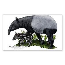 Malayan Tapir and Young Decal
