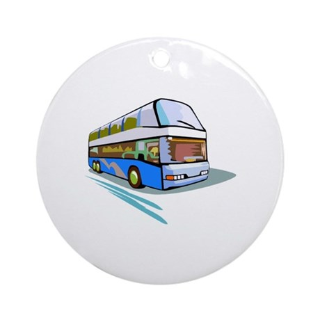 Bus Ornament (Round)