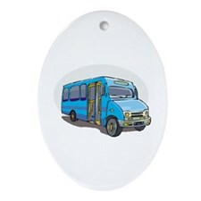 Bus Ornament (Oval)