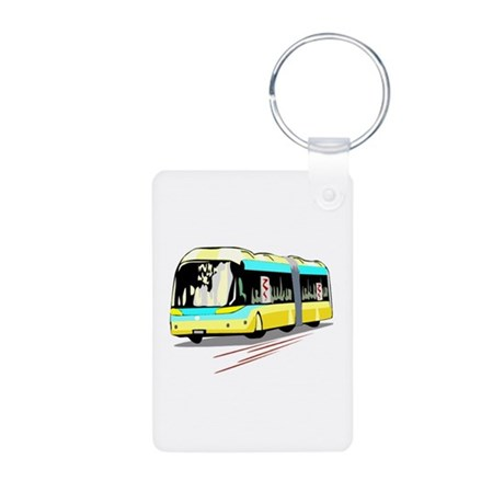 Bus Aluminum Photo Keychain