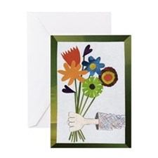 Flower Delivery Greeting Card
