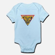 angry wild dog wolf head triangle Infant Bodysuit