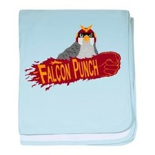 Falcon Punch baby blanket