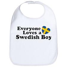 Everyone Loves a Swedish Boy  Bib
