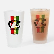 Ocean Customs -No Paddle No Livin Drinking Glass