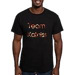Team Katniss ( flame) Men's Fitted T-Shirt (dark)