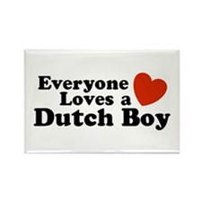 Everyone Loves a Dutch Boy Rectangle Magnet