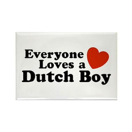 Everyone Loves a Dutch Boy Rectangle Magnet