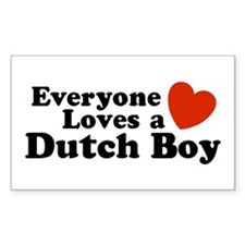 Everyone Loves a Dutch Boy Rectangle Decal