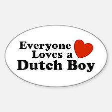 Everyone Loves a Dutch Boy Oval Decal