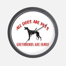 GREYHOUND FAMILY Wall Clock