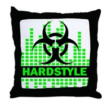 Hardstyle Throw Pillow