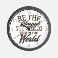 Be The Change Wall Clock