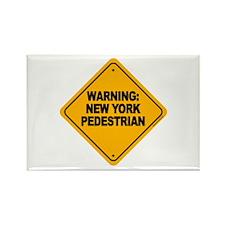 New York Pedestrian Rectangle Magnet (10 pack)