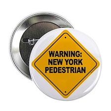 """New York Pedestrian 2.25"""" Button (10 pack)"""