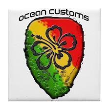 OC-Outrigger Paddle Blade Tile Coaster