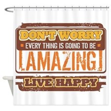 Don't Worry, Live Happy Shower Curtain