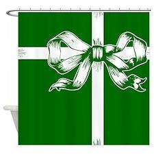 Green Ribbon Gift Shower Curtain