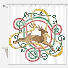 Celtic Reindeer Knots Shower Curtain