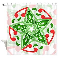 Celtic Christmas Star Shower Curtain