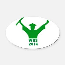 2014 Graduation Oval Car Magnet