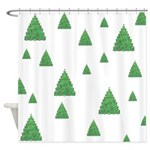 Celtic Christmas Trees Shower Curtain