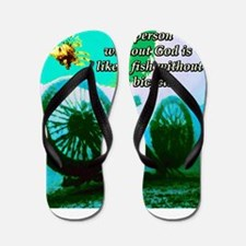 Without God Flip Flops