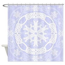 Celtic Winter Purple Shower Curtain
