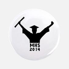 """2014 Graduation 3.5"""" Button"""