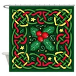 Celtic Garland Holly Shower Curtain