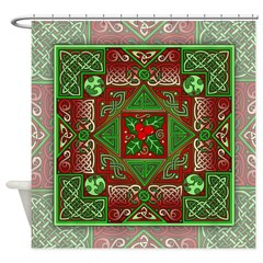 Celtic Labyrinth Holly Shower Curtain