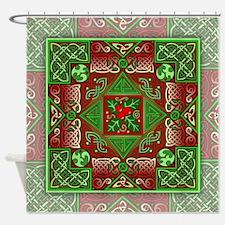 Celtic Labyrinth Holly Shower Curtain