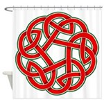 Celtic Christmas Knot Shower Curtain