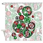 Celtic Christmas Spirals Shower Curtain
