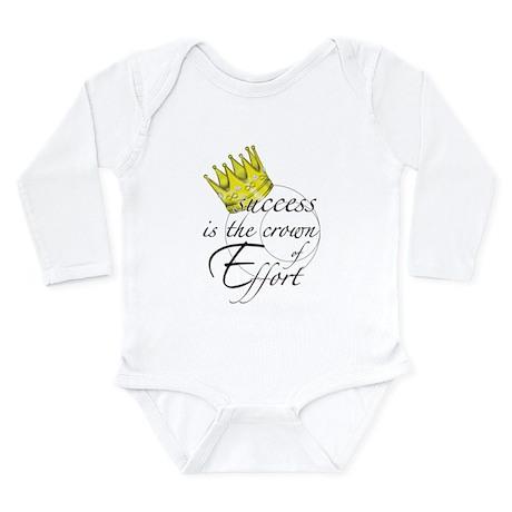 Crown of Effort Long Sleeve Infant Bodysuit
