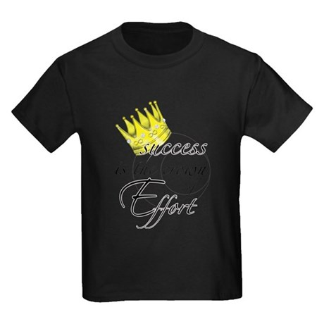 Crown of Effort Kids Dark T-Shirt