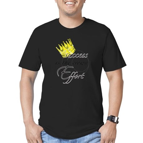 Crown of Effort Men's Fitted T-Shirt (dark)