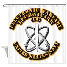 Navy - Rate - EW Shower Curtain