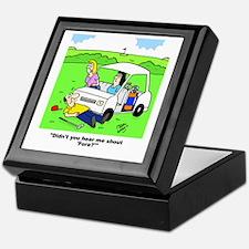 'Fore' Golf cartoon Keepsake Box